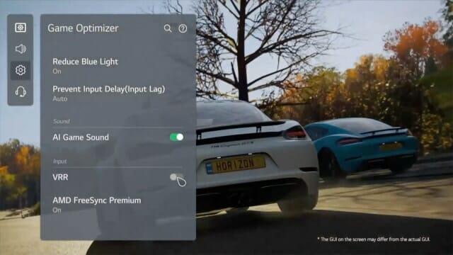 Die LG-TVs nutzen nun einen Game Optimizer.