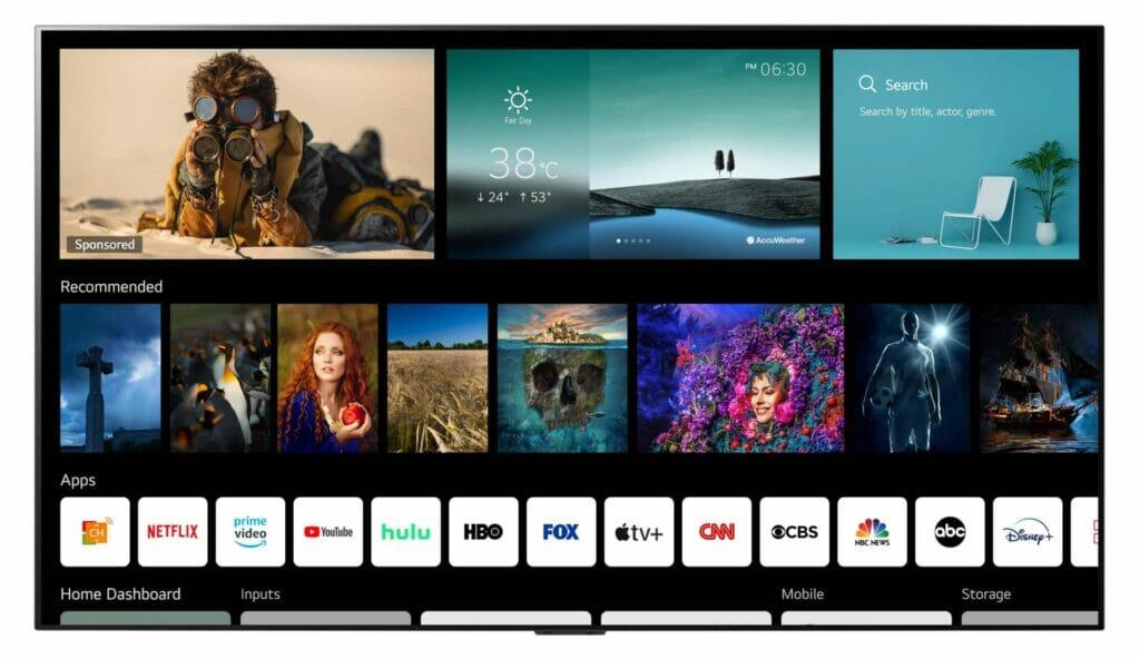 LG hat webOS 6.0 für seine Fernseher vorgestellt