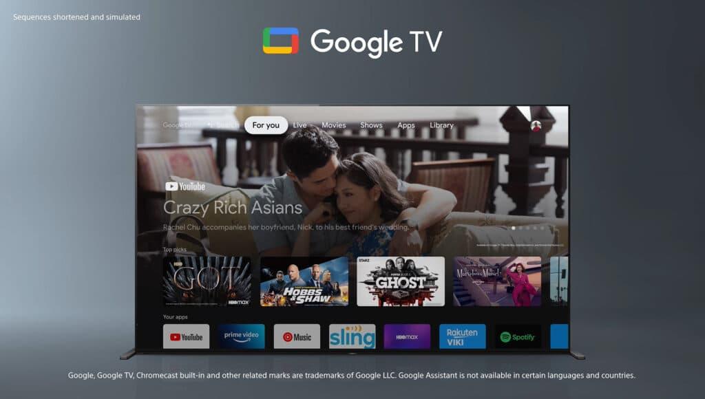 So soll die Google TV Oberfläche aussehen