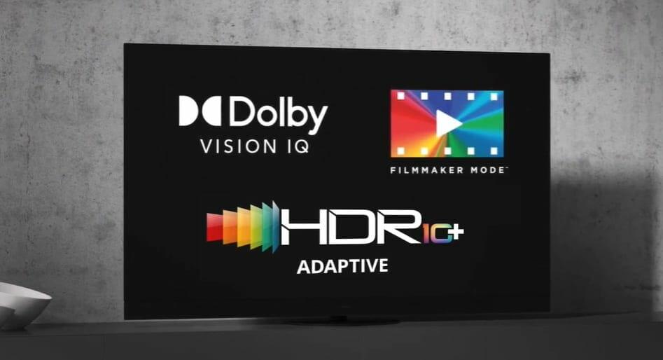 Der JZW2004 4K OLED TV unterstützt alle adaptiven HDR- und Filmmodi
