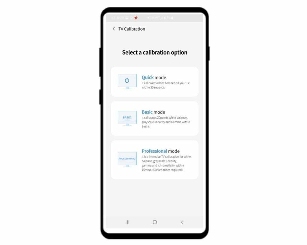 Schritt für Schnitt soll die EZCal-App den Nutzer durch die bevorzugte Bildkalibrierung (Quick, Basic oder Professional) begleiten