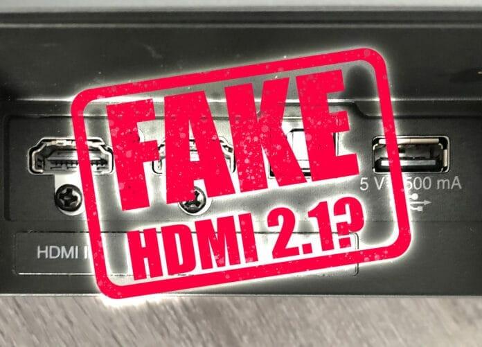 Fake HDMI 2.1