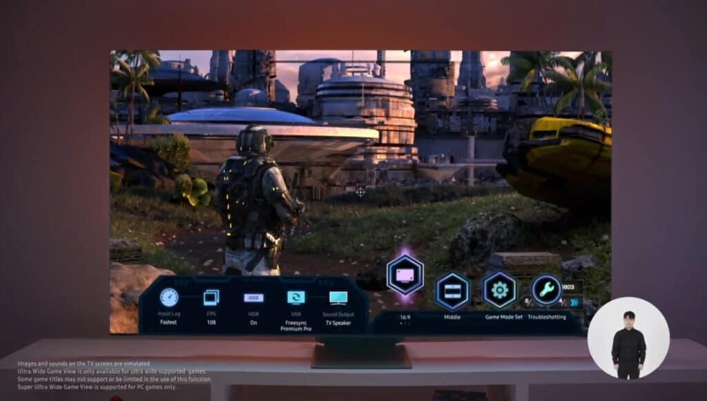 Der neue Game Bar der Samsung Neo QLED TVs