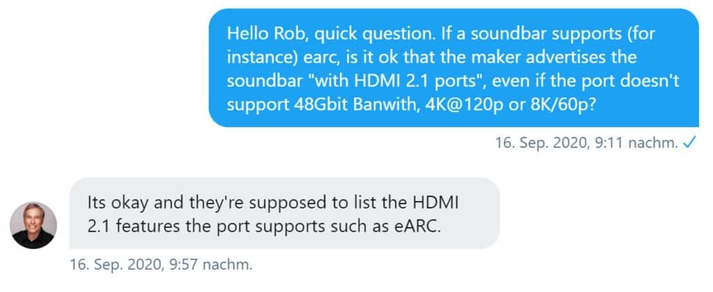 HDMI 2.1 Auszeichnung Rob Tobias