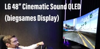LG 48 Zoll OLED biegsames Display Cinematic Sound OLED (CES 2021)