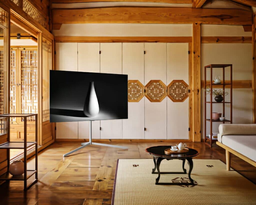 Der neue Standfuß für LGs OLED Fernseher