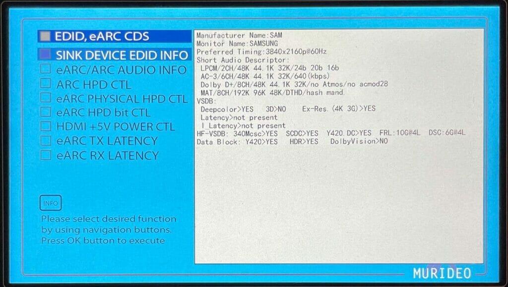 Die ausgelesene EDID des HDMI 2.1-Ports (HDMI 4) eines Q90T liefert keine Auffälligkeiten
