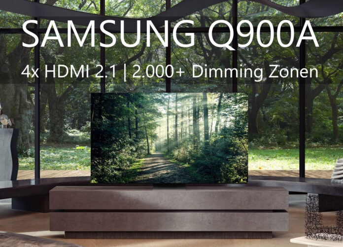 Der Samsung QN900A könnte mit vier HDMI 2.1-Anschlüsse, Mini-LED mit über 2.000 Dimming-Zonen und 6.2.2-Sound zum Top-Modell 2021 avancieren