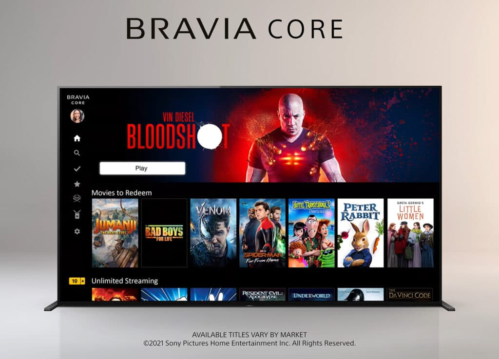 Sony Bravia Core Streamingdienst