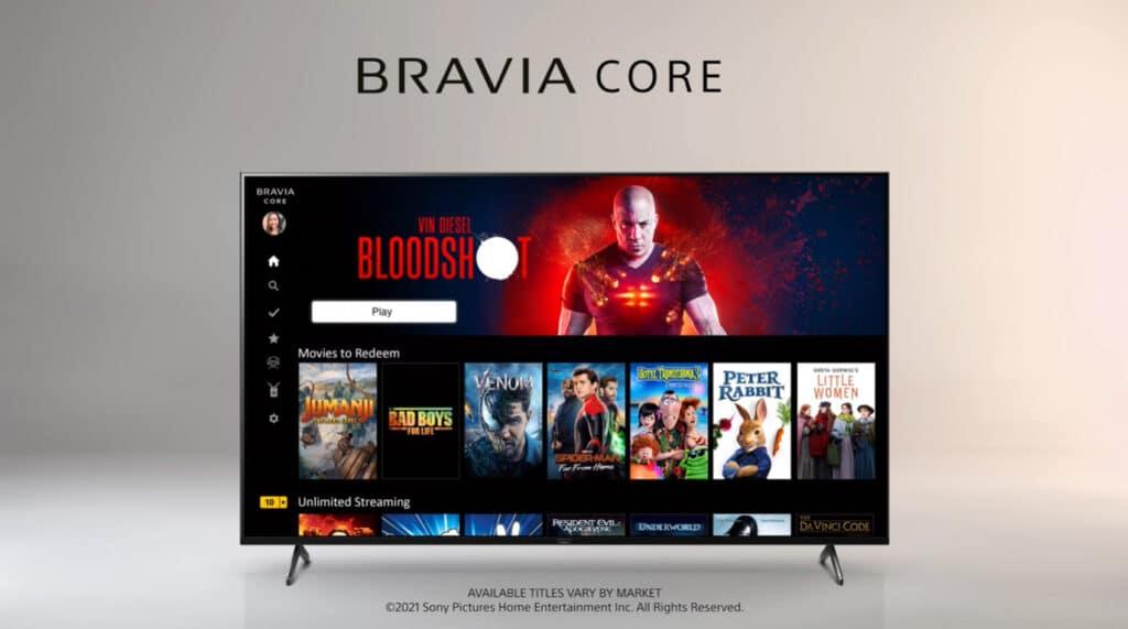 Der Bravia Core Streamingdienst steht Käufern des X90J exklusiv (nur bei XR-Modellen integriert) zur Verfügung