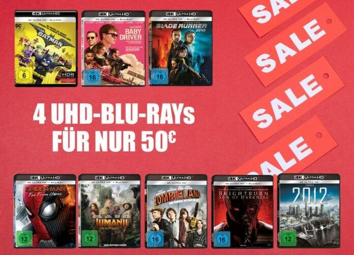 4 UHD Discs für 50 Euro! Günstiger kommt man derzeit nicht an 4K Ultra HD Blu-rays!