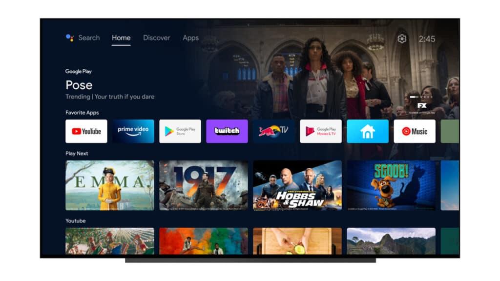Android TV erhält einen neuen Startbildschirm