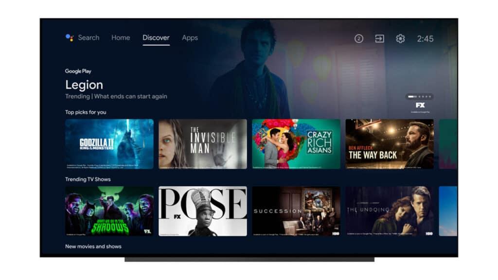 Der neue Look von Android TV erinnert an Google TV