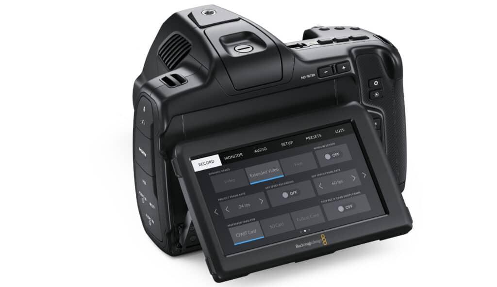 Der Screen der Blackmagic Pocket Cinema Camera 6K Pro unterstützt HDR