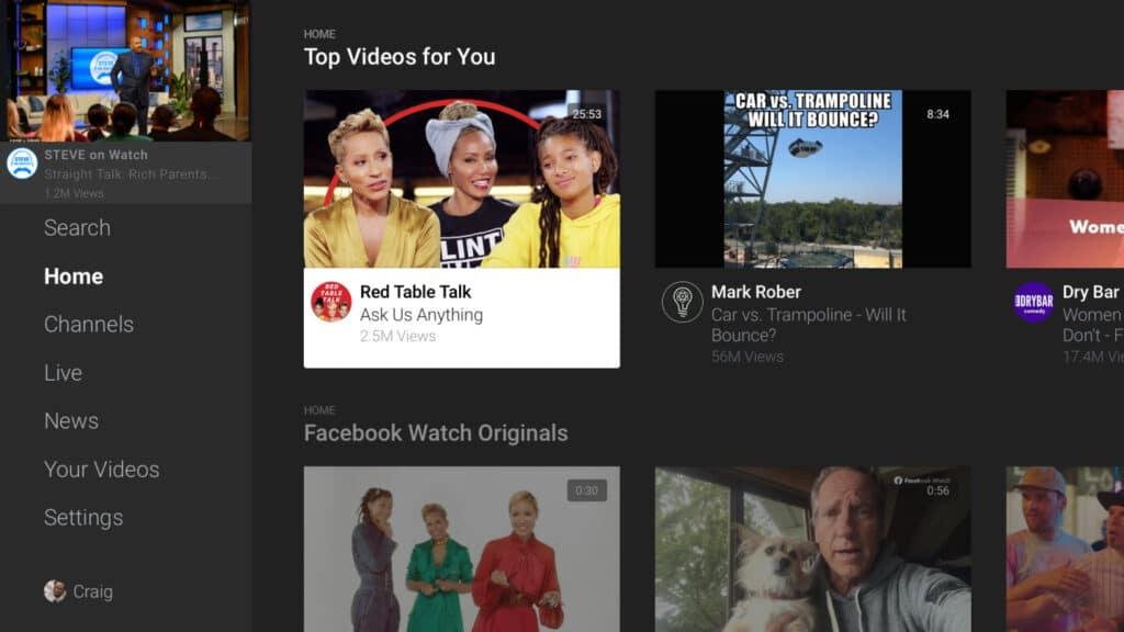 Facebook Watch erinnert durchaus im Aufbau an YouTube