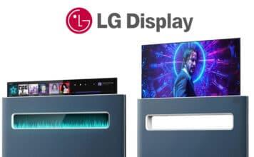 Konzept eines ausfahrbaren OLED TV mit Sichtfenster von LG Display