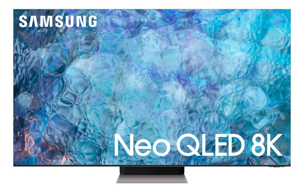 Der QN900A 8K Neo QLED TV sieht mit seinem rahmenlosen Infinity-Display schon sehr schick aus