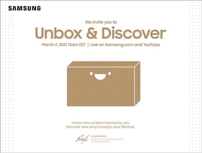 """Die Einladung zu Samsungs Online-TV-Event """"Unbox & Discover"""""""