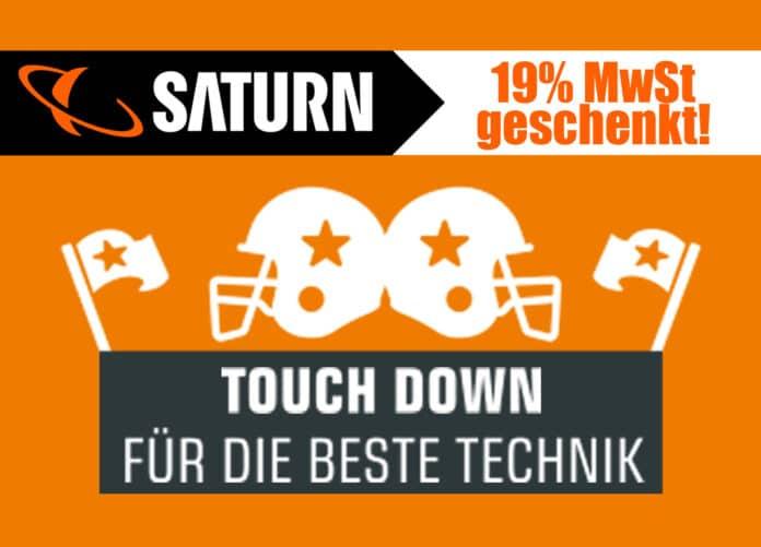 Saturn.de schenkt euch 19% Mehrwertsteuer - Bereitet euch auf den Super Bowl vor!