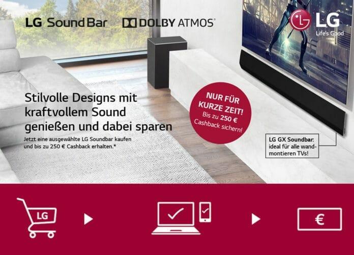 Soundbar von LG Electronics kaufen und bis zu 250 Euro Cashback erhalten!