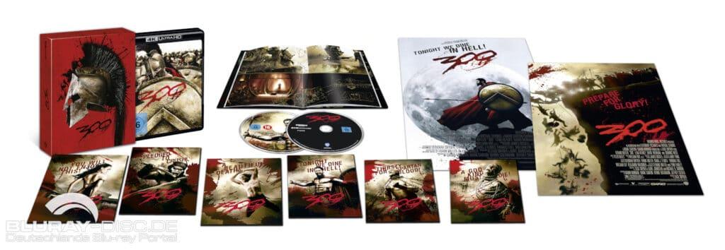 Inhalt der 300 Ultimate Collectors Edition 4K Blu-ray