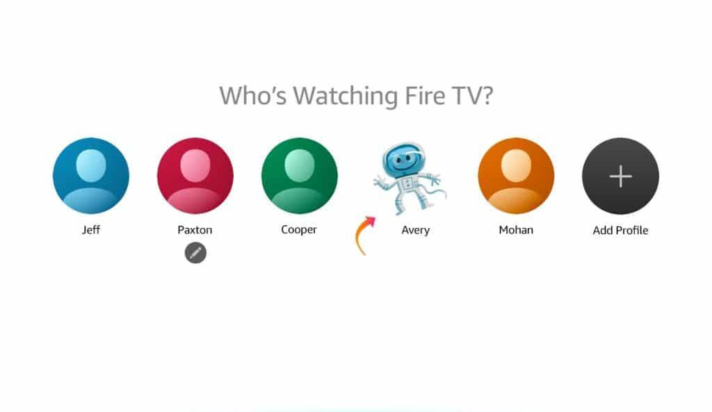 Die Amazon Fire TV bieten nun bis zu 6 Nutzerprofile auf Systemebene.