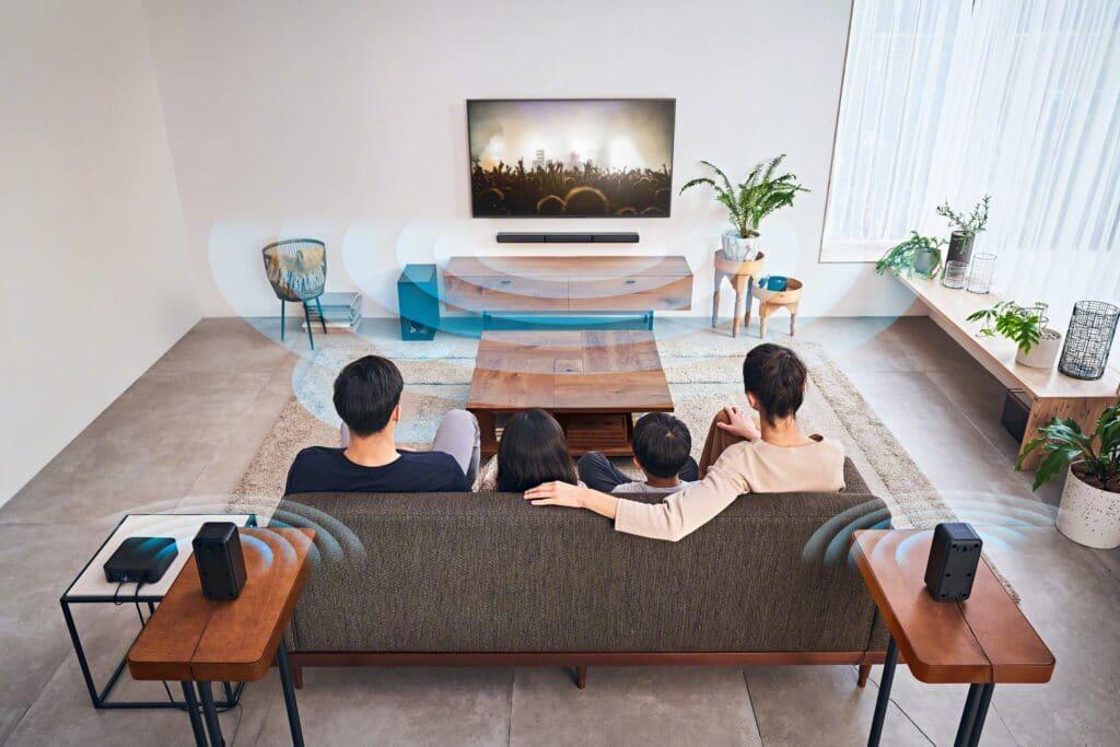 Die Sony HT-S40R soll für Kinoflair sorgen, so der Anbieter.