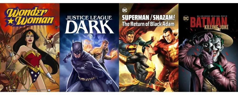 Günstige animierte Filme aus dem DC-Universe gibt es hier!