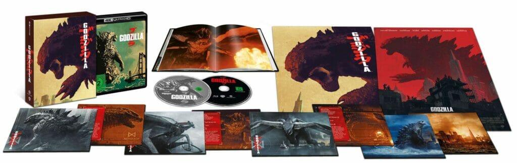 Der komplette Inhalt der Godzilla (2014) Ultimate Colletors Edition auf 4K Blu-ray