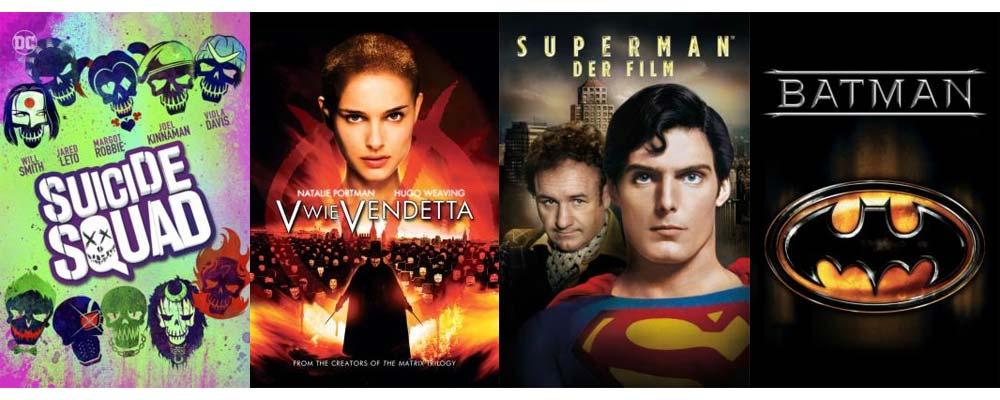 Superhelden und Antihelden-Flair bekommt ihr mit diesen Filmen!