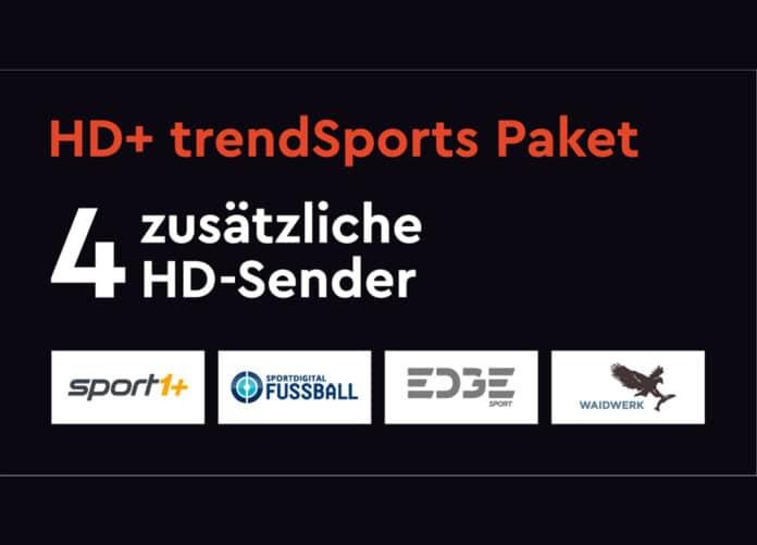 Das neue trendSports Abo mit vier HD-Sendern gibt es für neue HD+-Kunden sogar zwei Monate gratis!