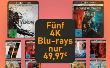 Zwei perfekte Film-Bundles für 4K Blu-ray-Beginner. Je Film zahlt ihr nur 9.99 Euro