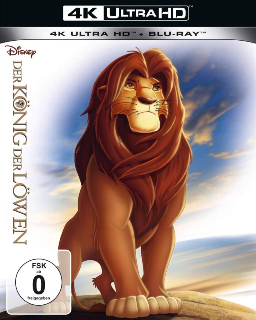 """""""König der Löwen"""" ist immerhin auch bei uns als UHD Blu-ray erschienen"""