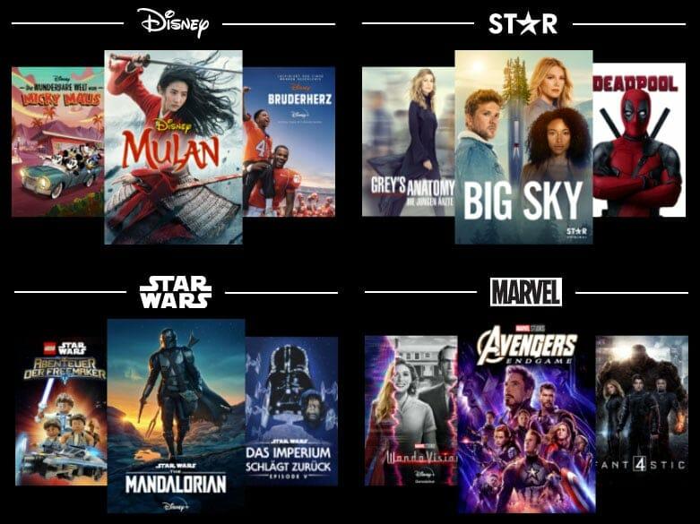 Blockbuster Filme und fesselnde Serien gibt es auf Disney+ zuhauf
