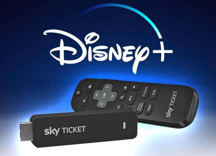 Disney+ (Plus) jetzt auch auf dem Sky Ticket TV-Stick || Abbilung: Walt Disney | Sky