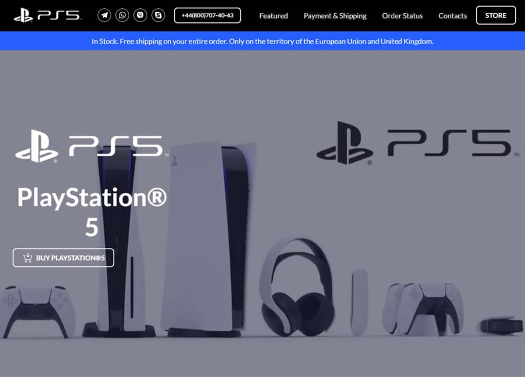 """Der Fake-Shop """"playstation-sony.eu"""" sorgt für Ärger, liefert aber sicherlich keine PlayStation 5 Konsolen aus"""