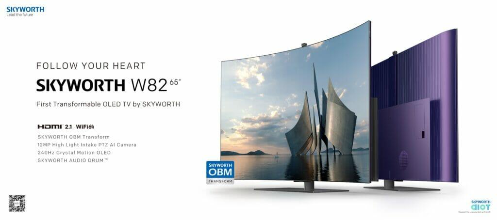 Weitere Highlights des Skyworth W82 sind unter anderem HDMI 2.1 (VRR & ALLM), WiFi 6 oder die 240Hz Interpolation