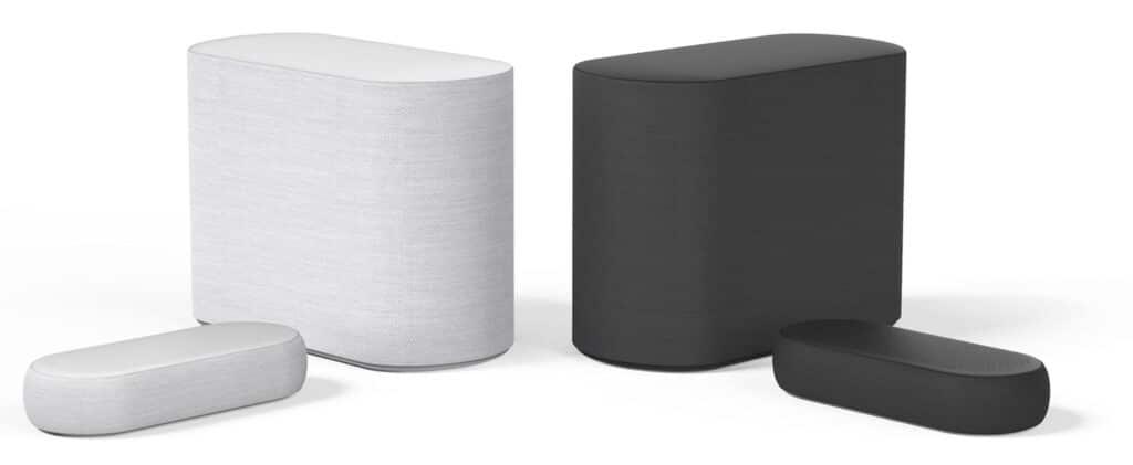 Die LG DQP5 Mini-Soundbar gibt es in Weiß und Schwarz