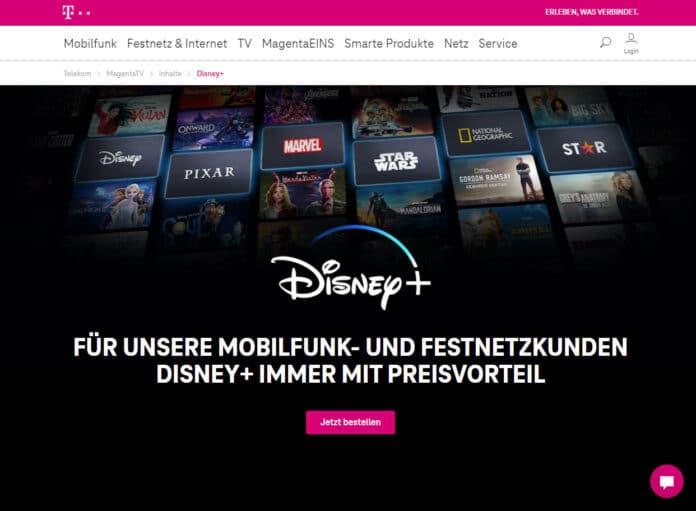Vorteilsangebot: Disney+ (Plus) für nur 5 Euro im Monat (im Jahresabo) für Telekom-Kunden