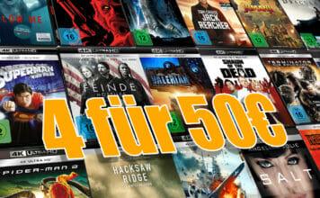 Vier 4K Blu-rays kaufen und nur 50 Euro bezahlen - 12.50 Euro pro Film!