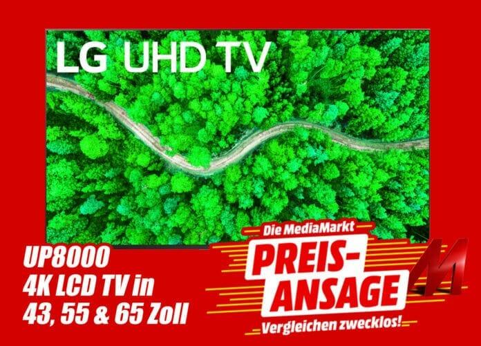 Die 24-Stunden-Preisansage mit dem LG UP8000 in 43, 55 und 65 Zoll zum Bestpreis