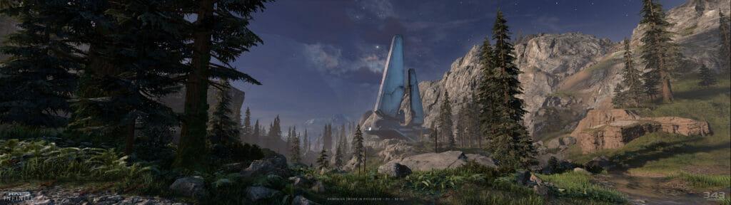 """""""Halo Infinite"""" zeigt sich auf diesem Screenshot in 32:9."""