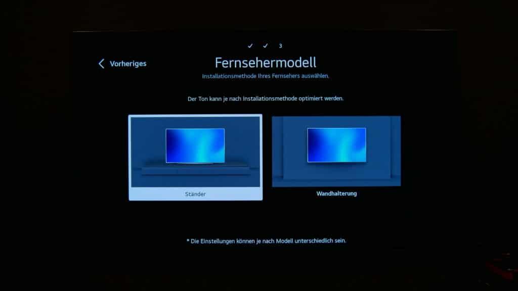 LG G1 OLED TV Optimierung Standfuß oder Wandhalterung