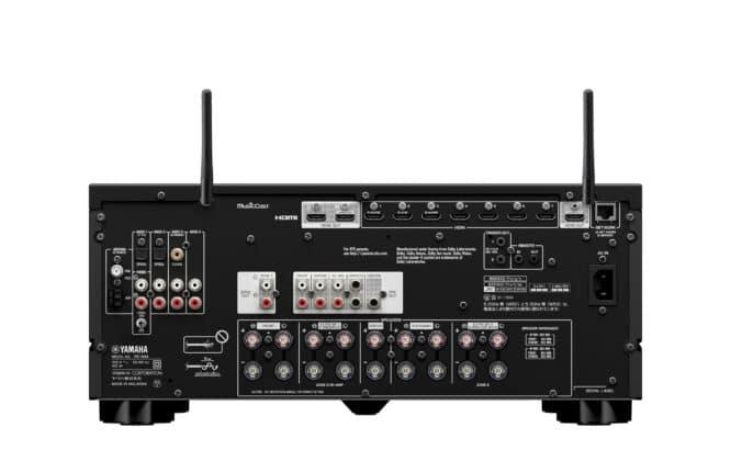Anschlüsse des Yamaha RX-A4A AV-Receivers (inkl. HDMI 2.1)