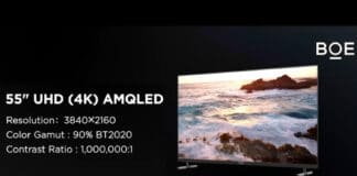 BEO präsentiert das weltweit erste, gedruckte 55 Zoll 4K AMQLED-Display