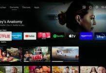 """Der neue Android TV-Startbildschirm mit """"Highlight-Werbung"""" von Sony"""