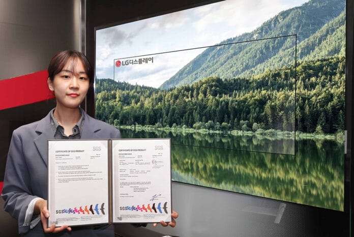 Das Öko-Zertifikat für die OLED-Technologie ausgestellt von SGS