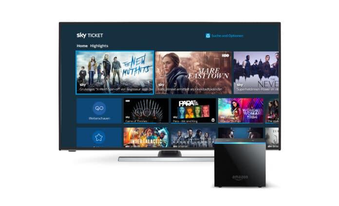 Die Sky Ticket App ist jetzt auch für den Fire TV Cube und Smarte Fire TVs verfügbar