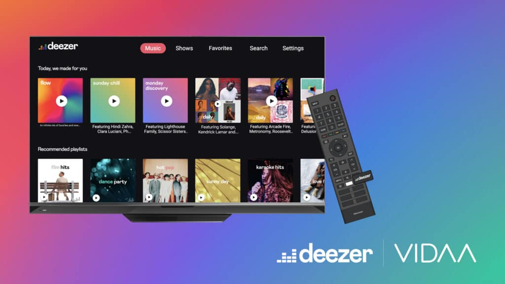 Hisense integriert Deezer sogar über einen Shortcut auf seinen Fernbedienungen.