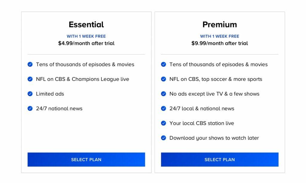 Paramount+ erhält eine neue Essential-Stufe